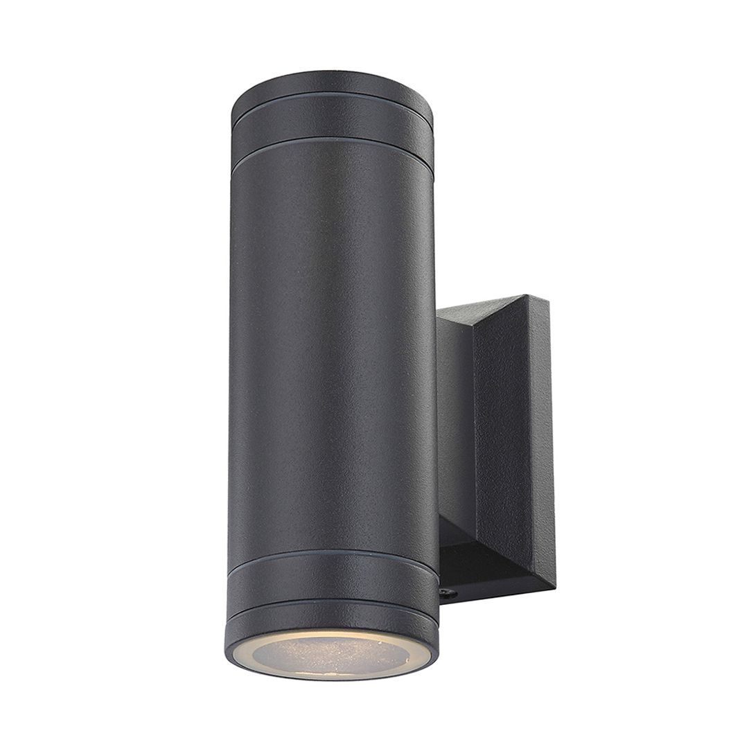 EEK A++, Außenleuchte Gantar by Globo - Aluminium/Glas - Grau - 2-flammig, Globo Lighting