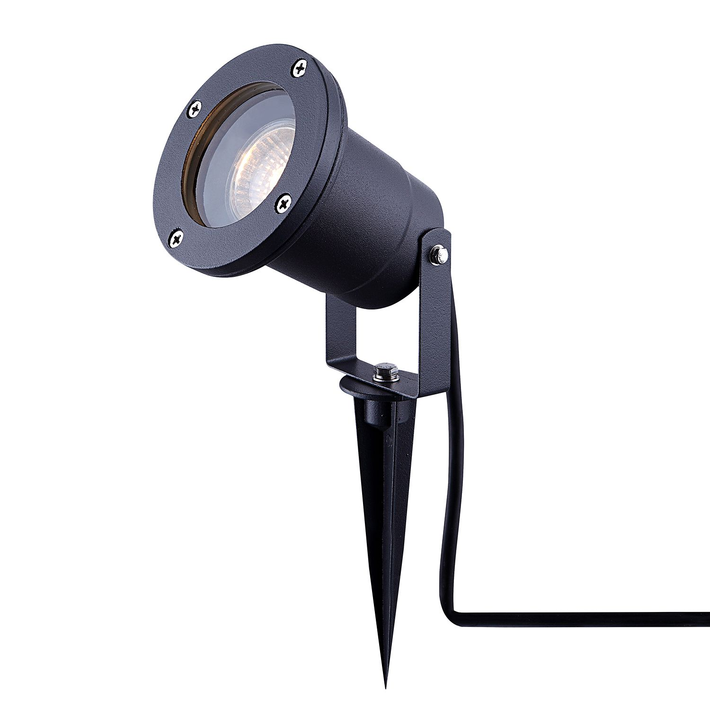 energie  A++, Buitenlamp Style V - glas/aluminium - 1 lichtbron, Globo Lighting