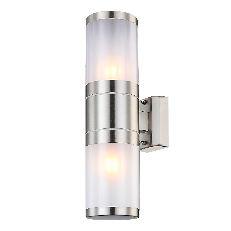 energie  A++, Buitenlamp Xeloo I - kunststof/roestvrij staal - 2, Globo Lighting
