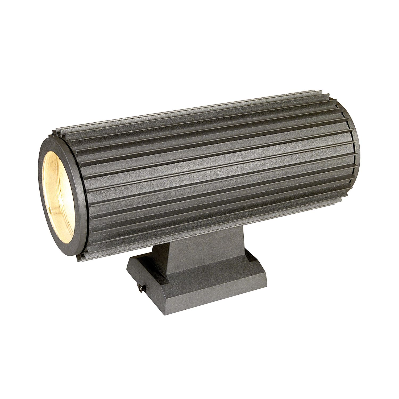 energie  A++, Buitenlamp Gear - aluminium zilverkleurig 2 lichtbronnen, Näve