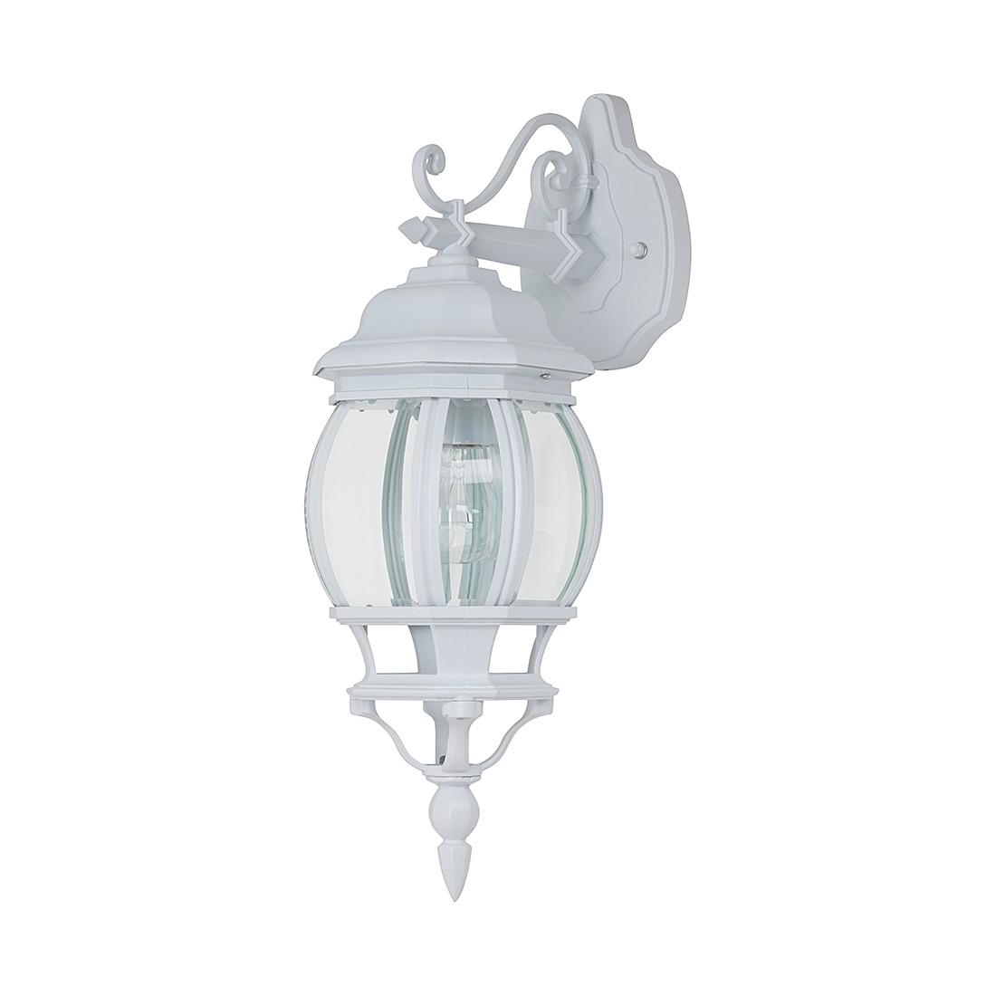 energie  A++, Wandlamp Sally - textiel/gegoten aluminium/glas - wit - 1 lichtbron, Brilliant