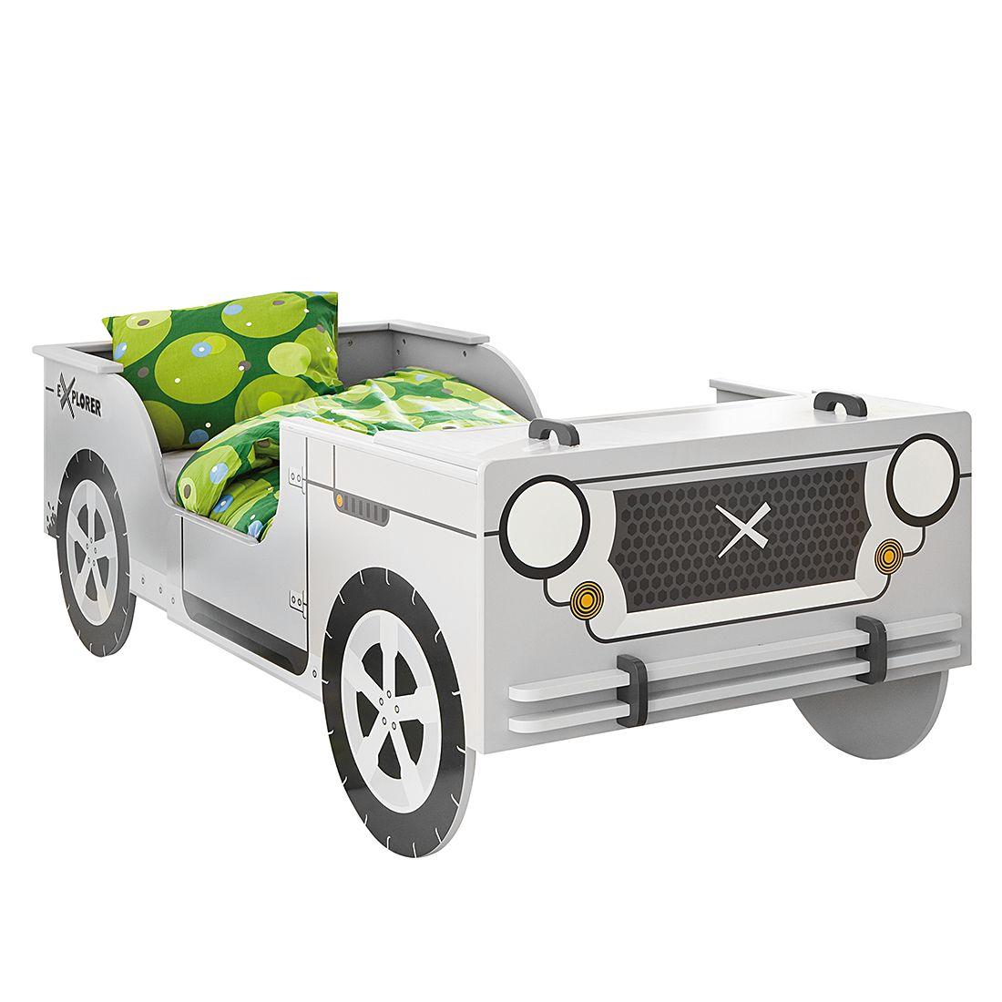Lit voiture Little Rock - Gris, Kids Club Collection