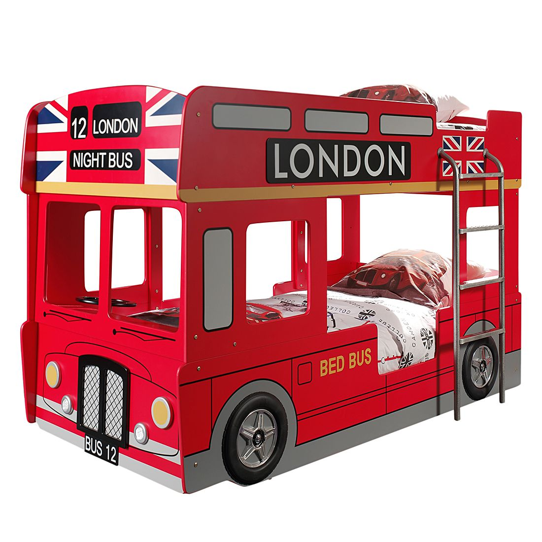 Autobett London Bus - Rot, Vipack