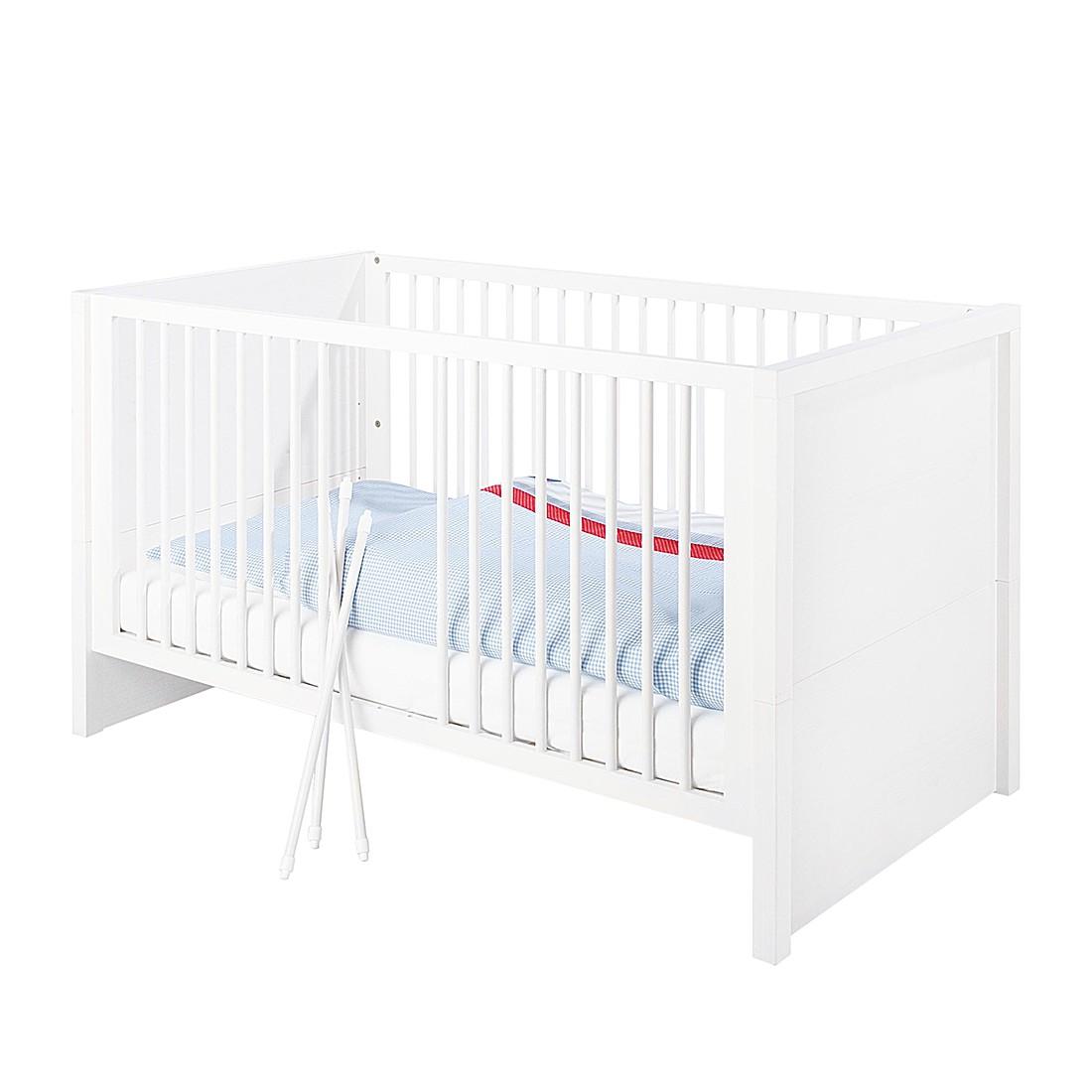 Home 24 - Lit bébé aura - pin massif blanc, pinolino