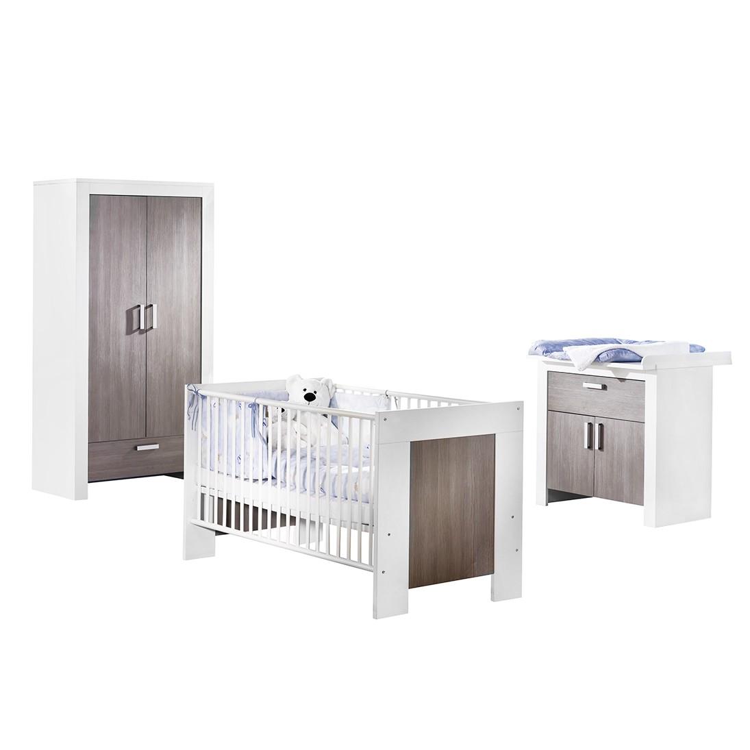 Combinaison chambre de bébé Janne - Blanc / Décor Rustica pin, California