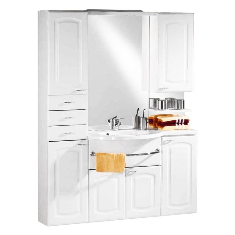 Home 24 - Eek a, ensemble de salle de bain nina - blanc (7 éléments), aqua suite
