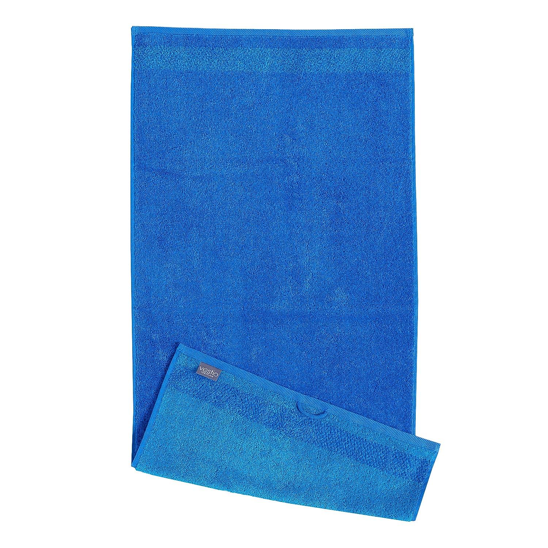 Home 24 - Serviette de bain borgo - coton - bleu, vestio