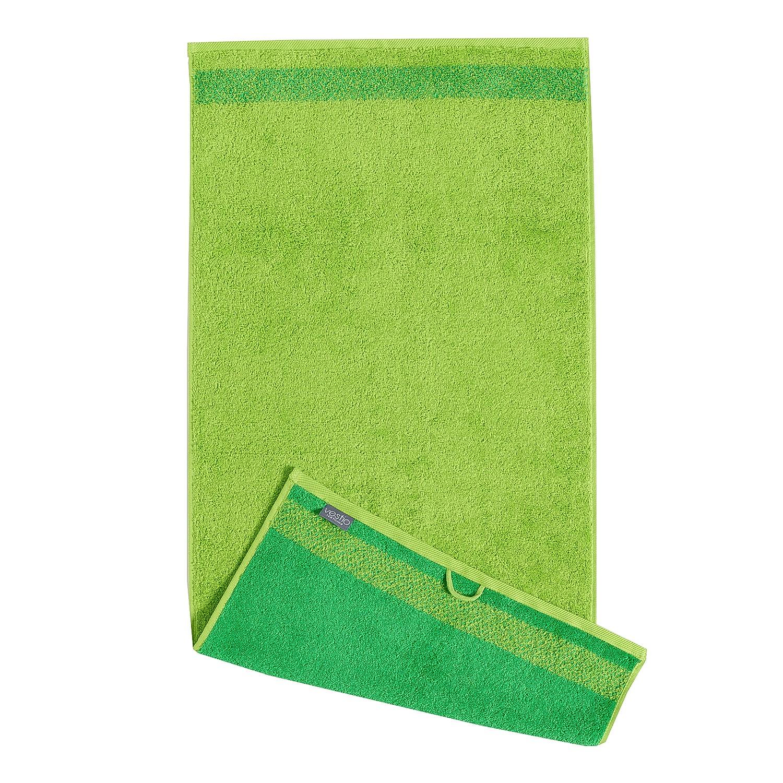Home 24 - Serviette de bain borgo - coton - vert, vestio