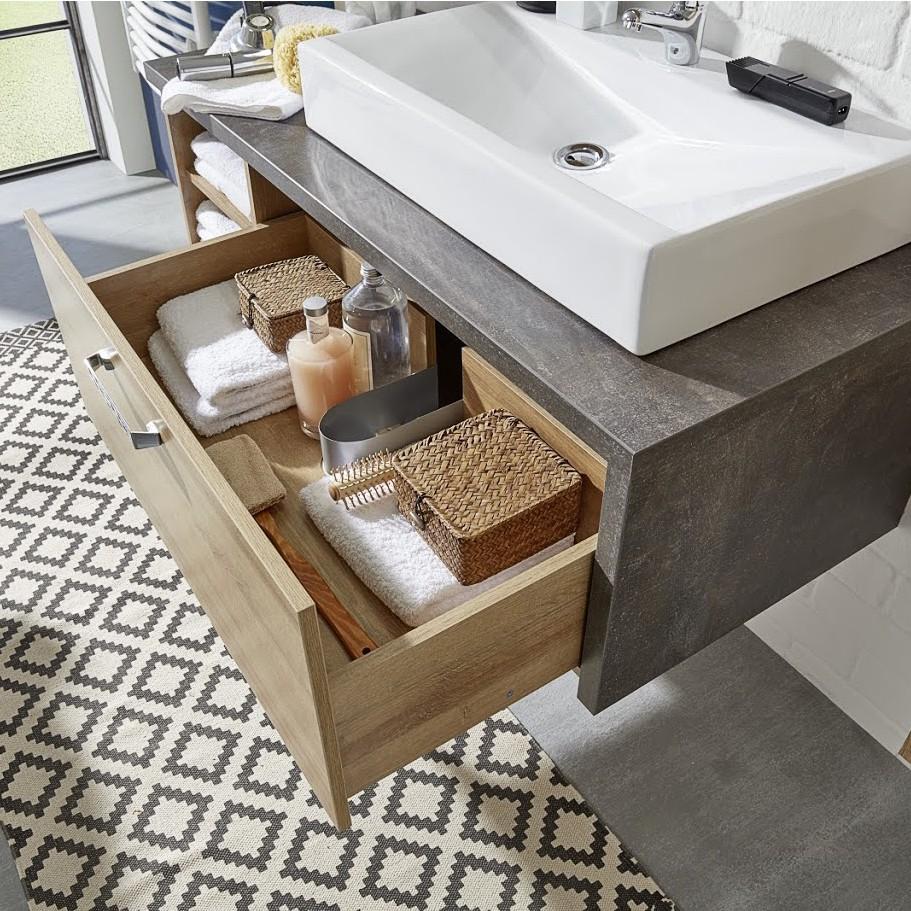 waschtischunterschrank bay mit waschbecken waschbeckenunterschrank badm bel ebay. Black Bedroom Furniture Sets. Home Design Ideas