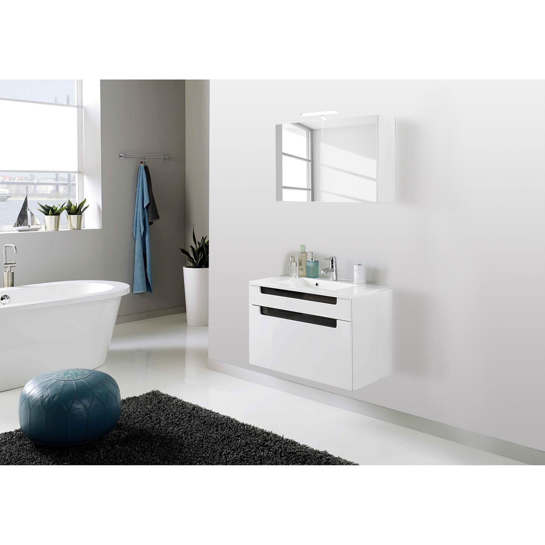 Set per il bagno Laris II (3 pezzi) - Bianco lucido/Color antracite lucido lucida, Giessbach