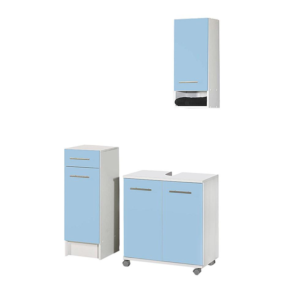 Set per il bagno Ottawa (3 pezzi) - Con piedi blu chiaro, Schildmeyer