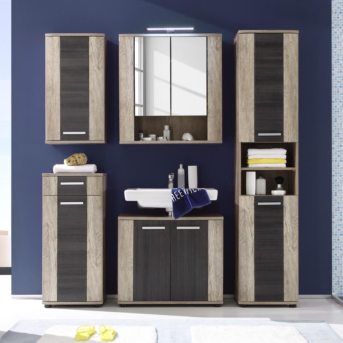 Home 24 - Eek a+, ensemble de salle de bain taris (5 éléments) - imitation chêne / touchwood, trendteam