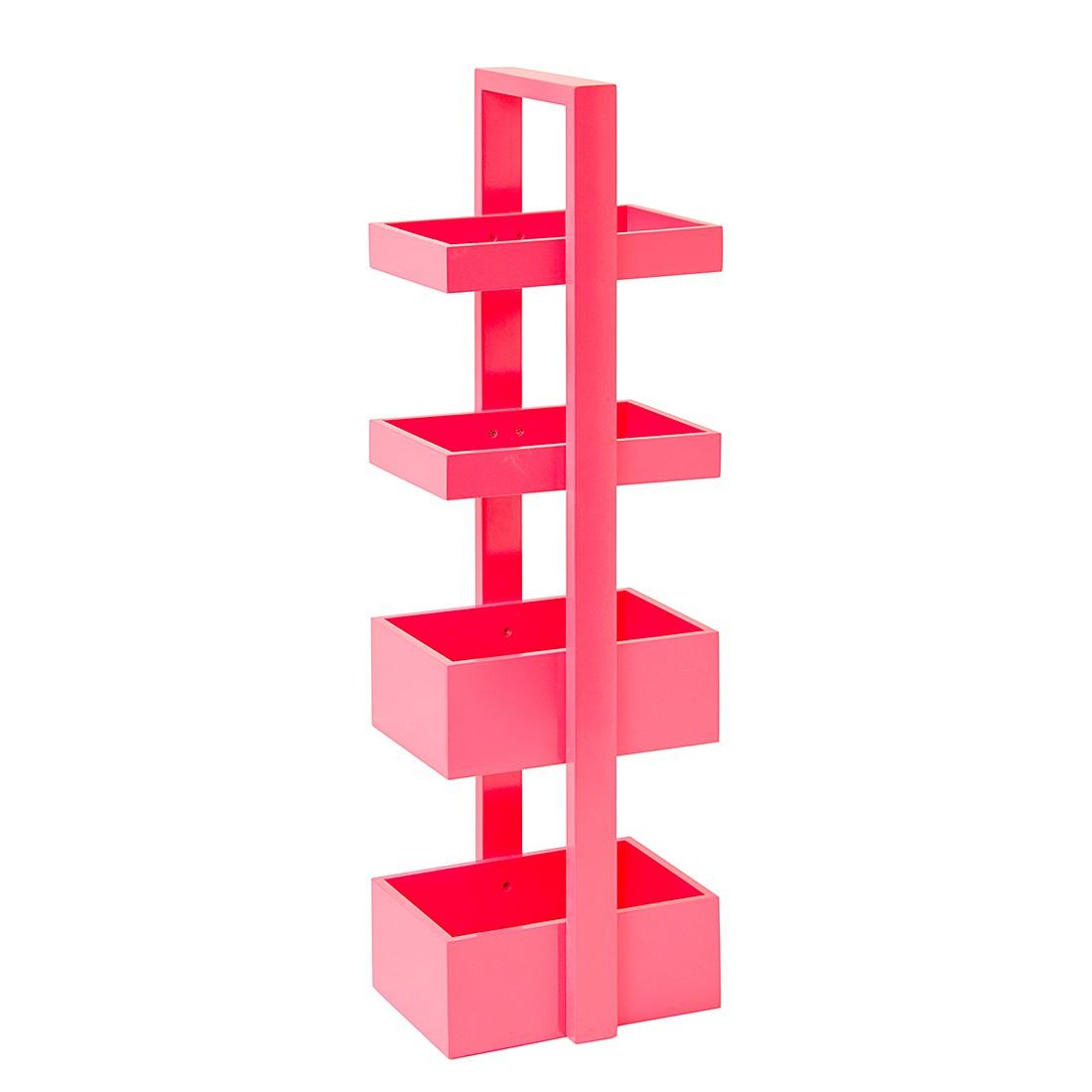 Badkamerrek Caddy - roze echt houten fineer, Wireworks