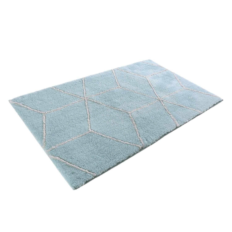 Badmat Flair - kunstvezel - Turquoise/wit - 70x120cm, Esprit