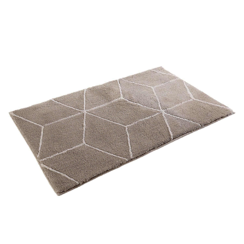 Badmat Flair - kunstvezel - Taupe/wit - 70x120cm, Esprit