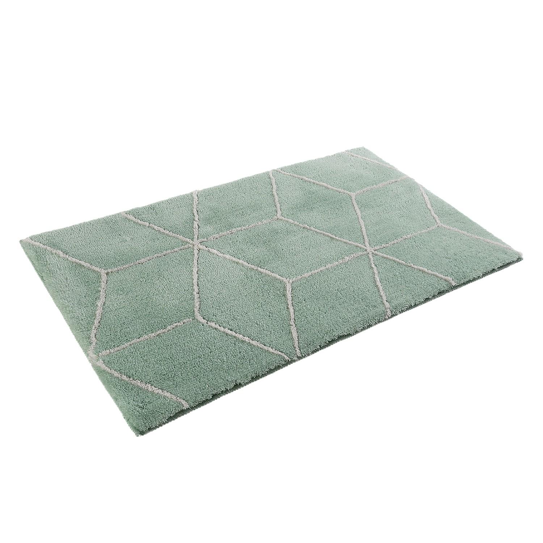 Badmat Flair - kunstvezel - Wit/mintgroen - 70x120cm, Esprit