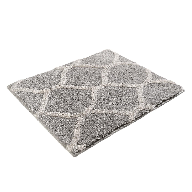 Badmat Oriental Tile - kunstvezel - Grijs/wit - 55x65cm, Esprit Home