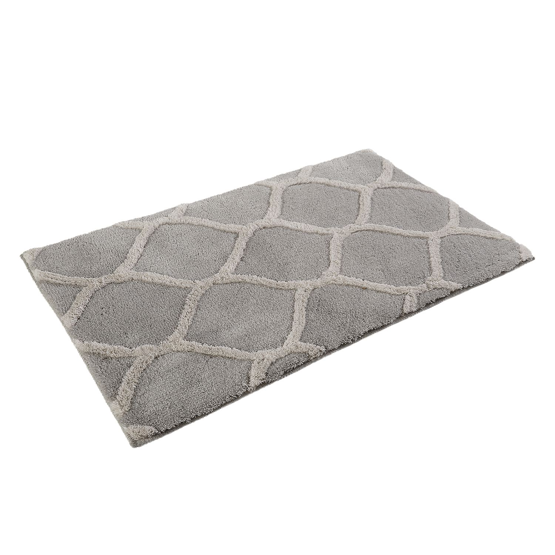 Badmat Oriental Tile - kunstvezel - Grijs/wit - 70x120cm, Esprit Home