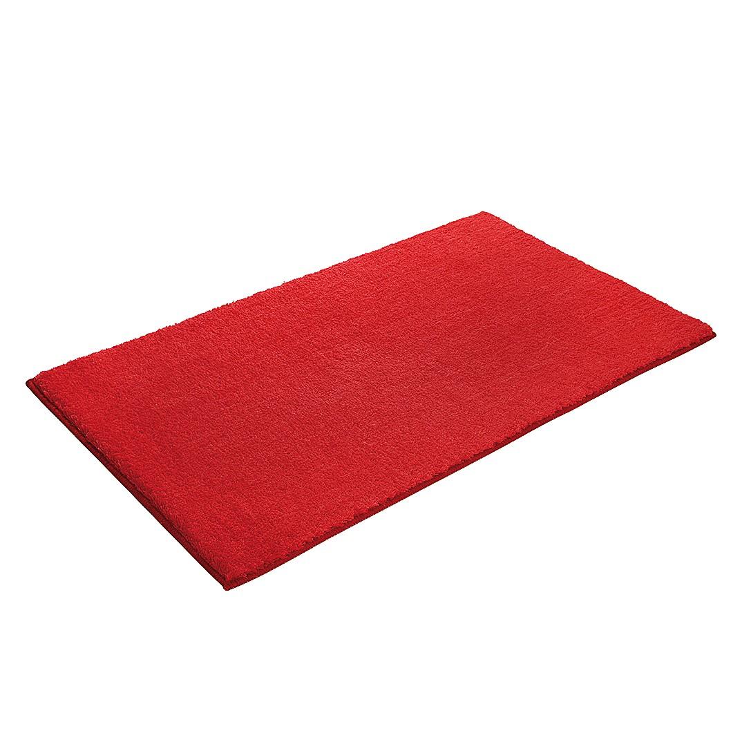 Home 24 - Tapis de bain softy - fibres synthétiques - rouge - 55 x 65 cm, esprit home
