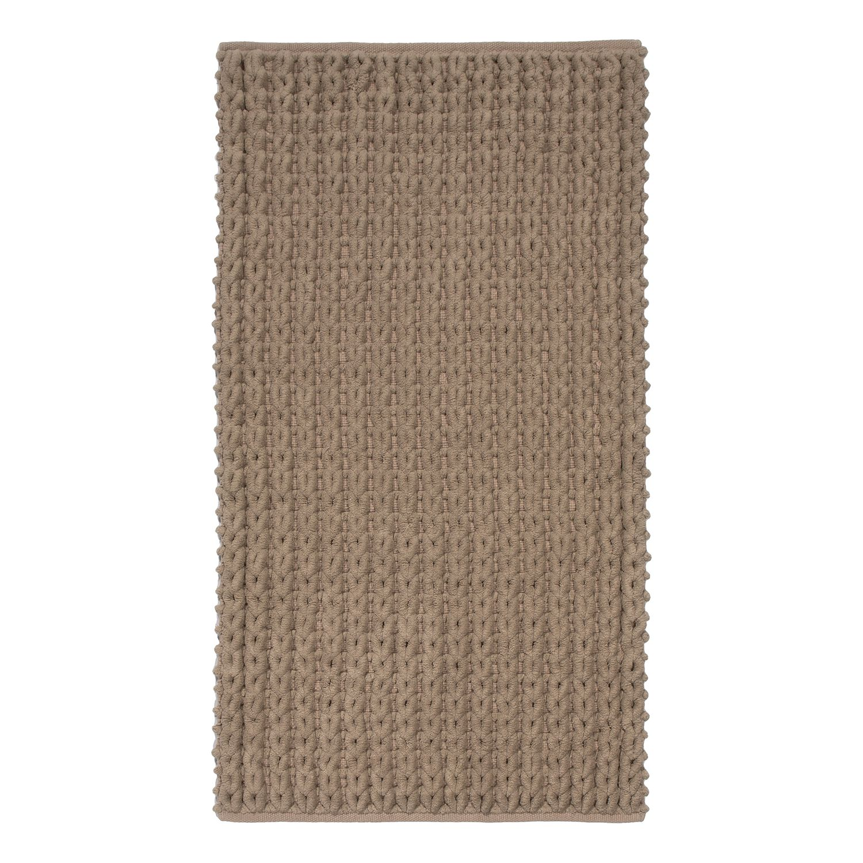 Badmat Tress - katoen - Latte Macchiattokleurig - 60x90cm, Nicol Wohnausstattungen