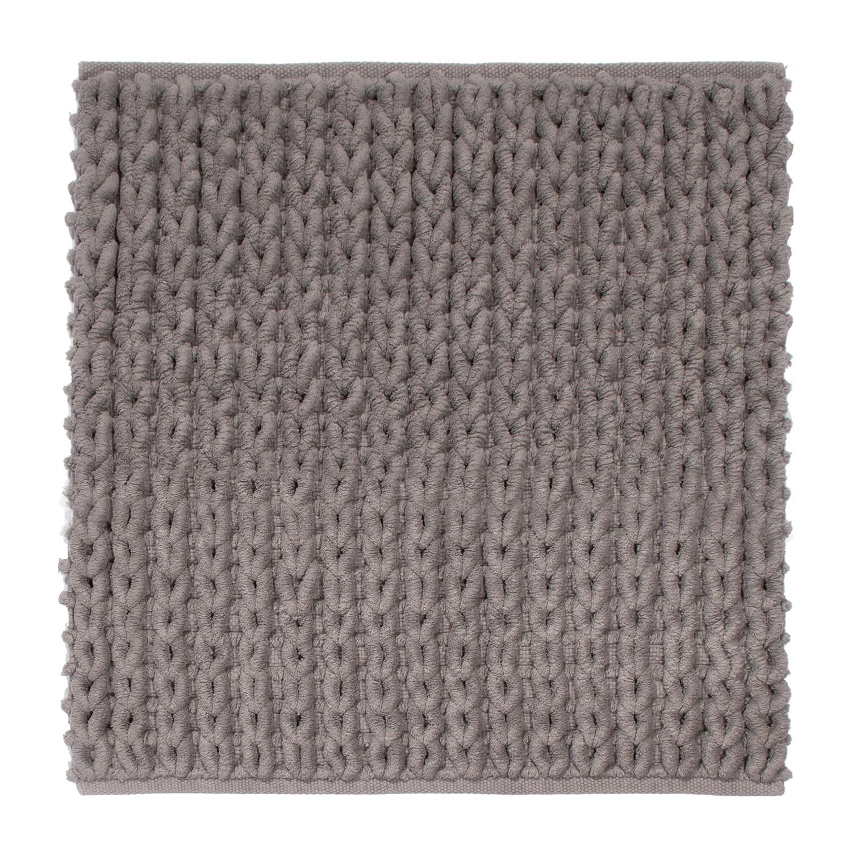 Badteppich Tress - Baumwollstoff - Lehm - 55 x 55 cm, Nicol Wohnausstattungen