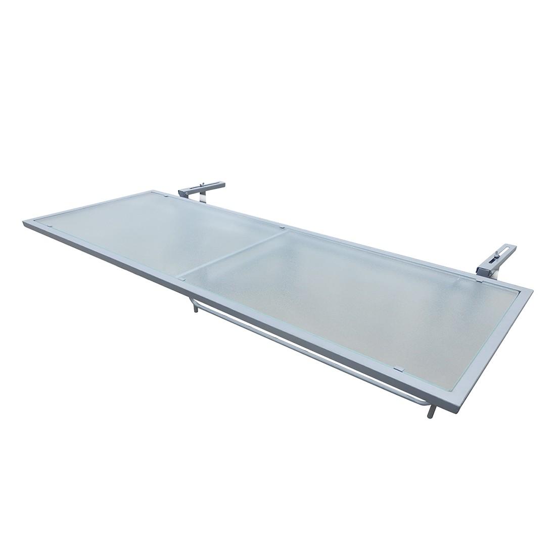 Balkon klaptafel Opal II - staal/glas, Merxx