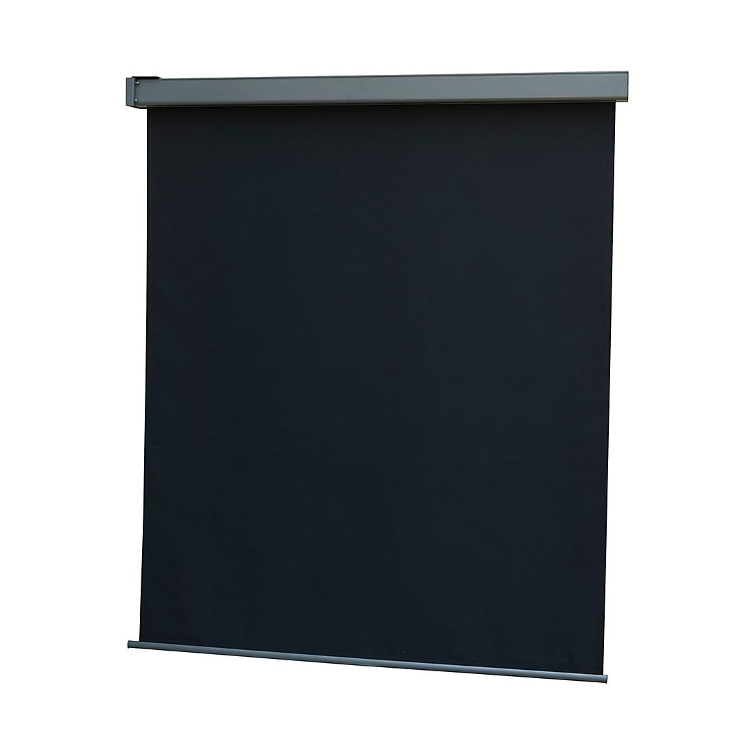 Balkonmarkise Florence - Aluminium/Polyester - Anthrazit - Breite: 120 cm, Leco