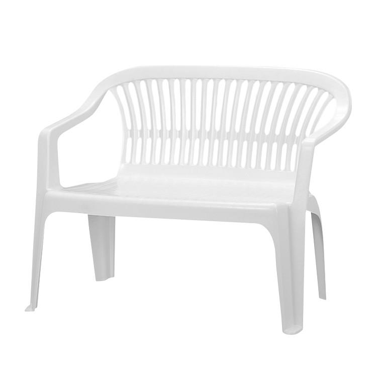 bank belleair 2 sitzer kunststoff wei progarden. Black Bedroom Furniture Sets. Home Design Ideas
