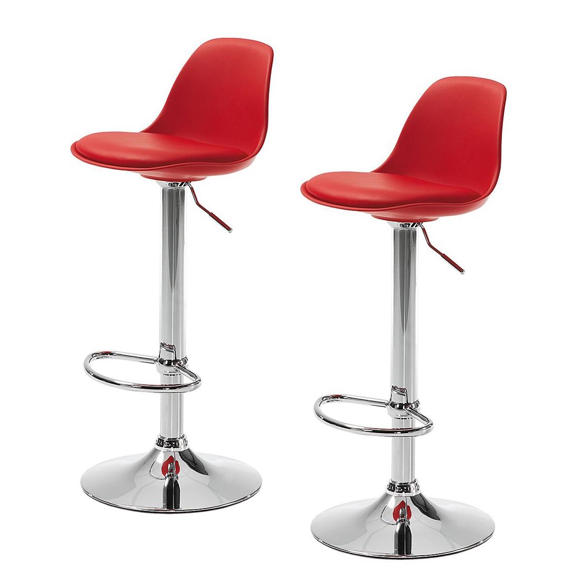 h henverstellbarer barhocker rot preisvergleich die besten angebote online kaufen. Black Bedroom Furniture Sets. Home Design Ideas