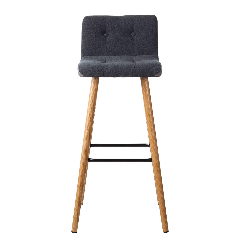 barstuhl eiche das bild wird geladen eiche runder barhocker in schwarz eiche massivholz. Black Bedroom Furniture Sets. Home Design Ideas