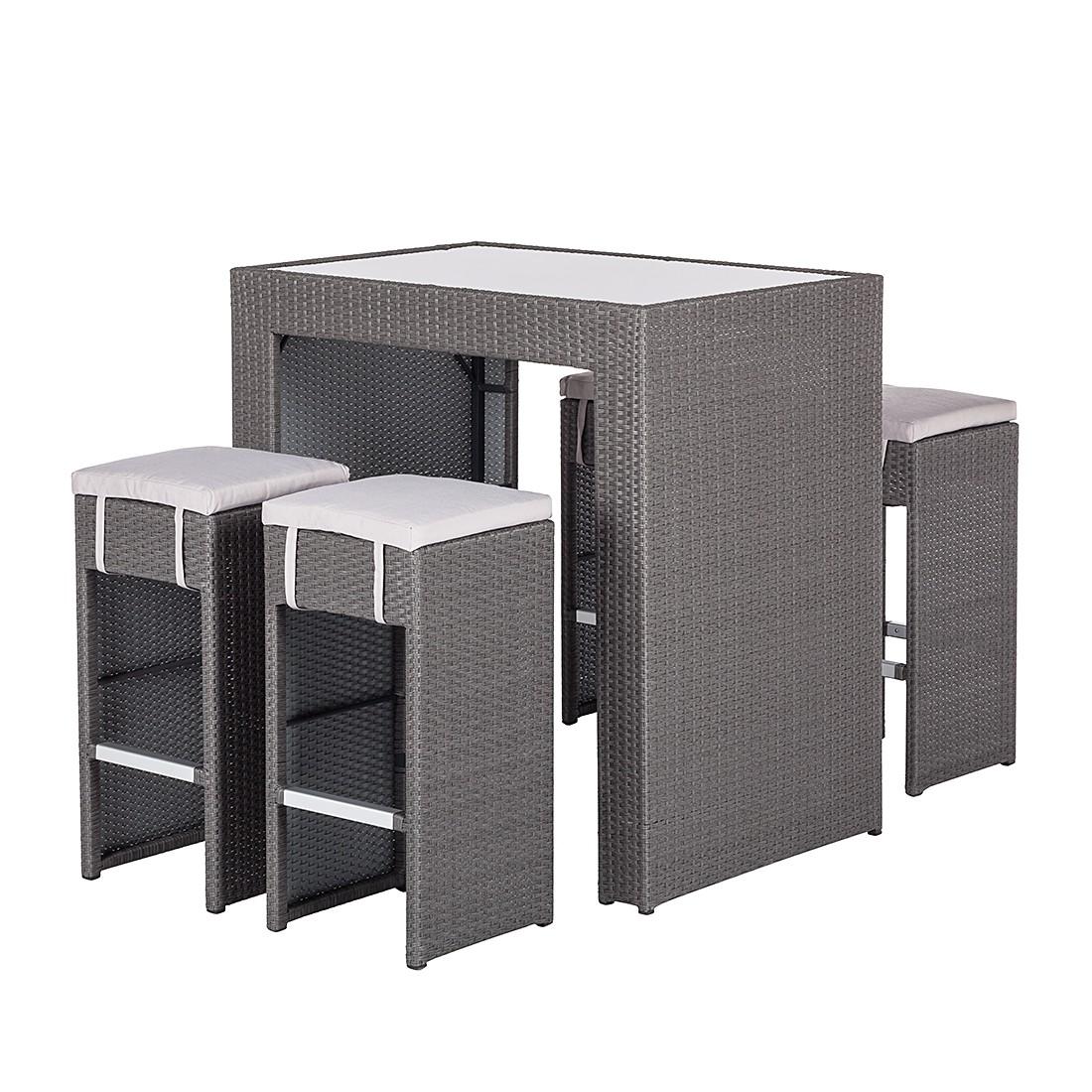 Gartenbar preisvergleich die besten angebote online kaufen for Polyrattan lounge set grau