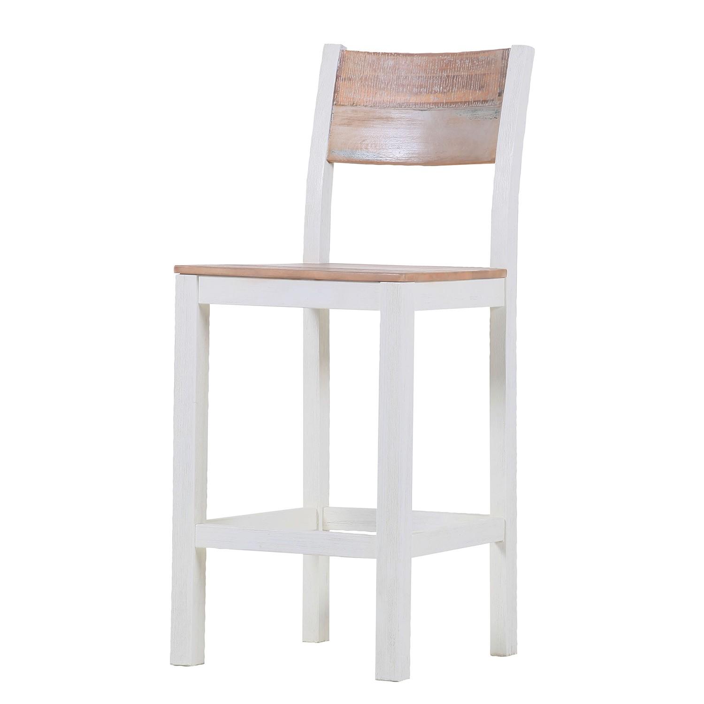 chaise de bar doral acacia massif marron blanc maison belfort par maison belfort chez home24 fr. Black Bedroom Furniture Sets. Home Design Ideas