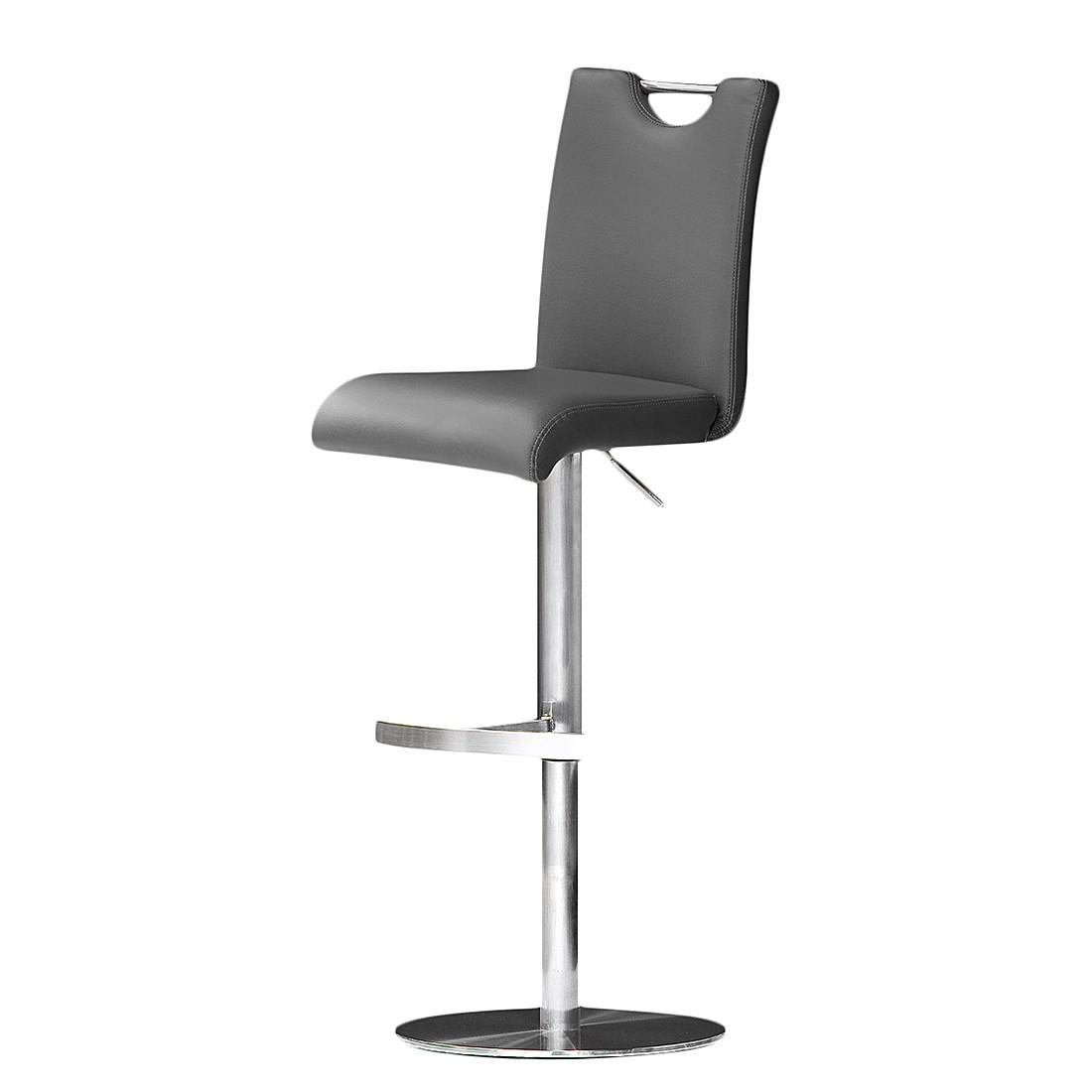 Home 24 - Chaise de bar ed - gris - cuir synthétique - sur, roomscape