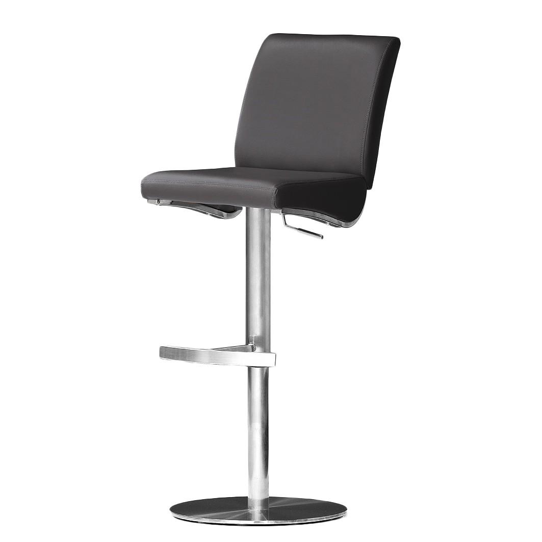 Home 24 - Chaise de bar hoover - noir - cuir véritable - sur, roomscape
