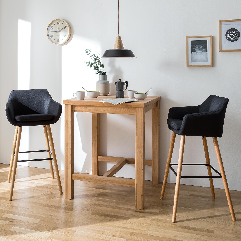 2x barstuhl nicholas ii webstoff eiche anthrazit barhocker bar hocker ebay. Black Bedroom Furniture Sets. Home Design Ideas