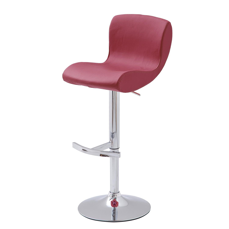 Home 24 - Chaise de bar zerano (lot 2) - rouge foncé, roomscape