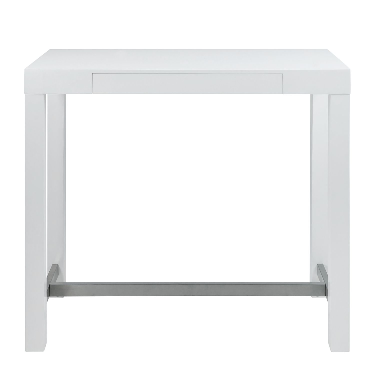 Home 24 - Table de bar ettrick - blanc brillant, roomscape