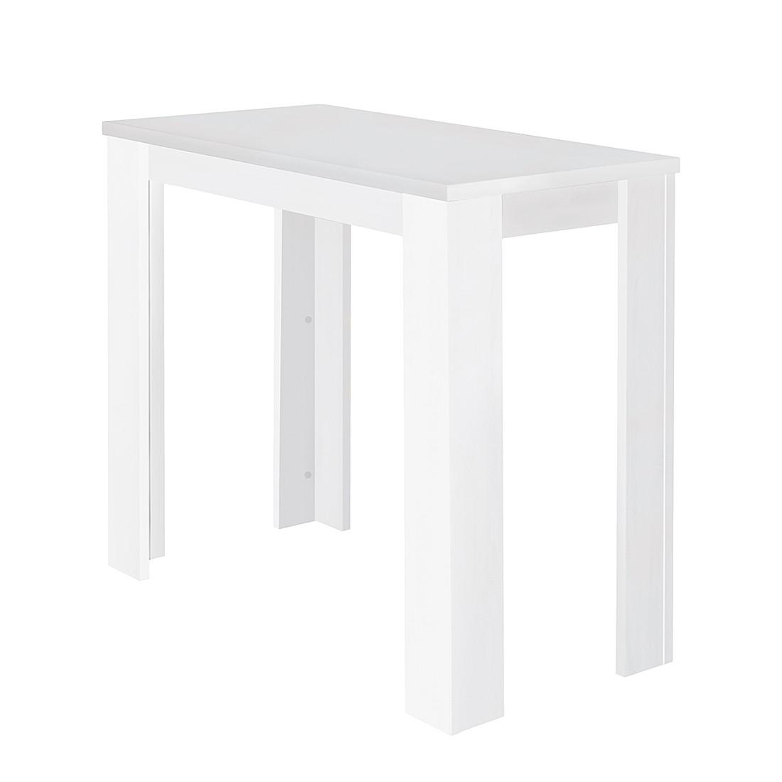 Home 24 - Table de bar gröning - blanc, mooved