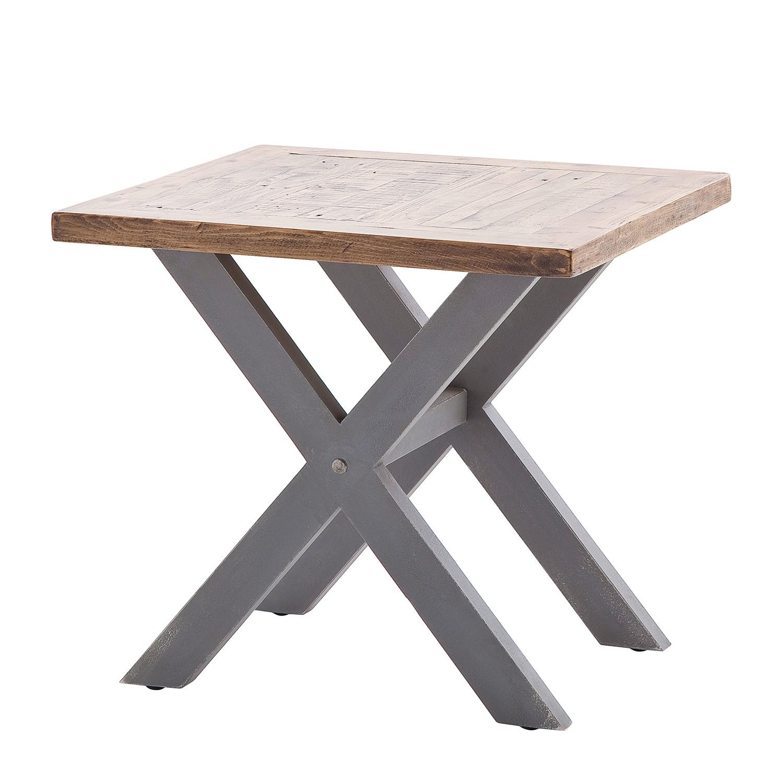 Tavolino Balignton - Legno massello di pino - Grigio, Maison Belfort