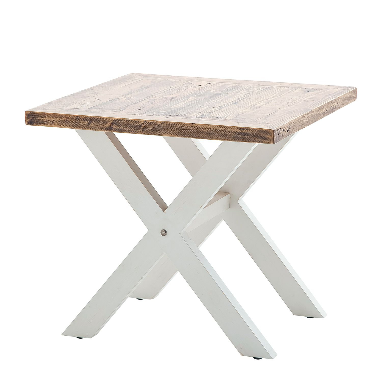 Table d'appoint Balignton - Pin massif - Blanc, Maison Belfort