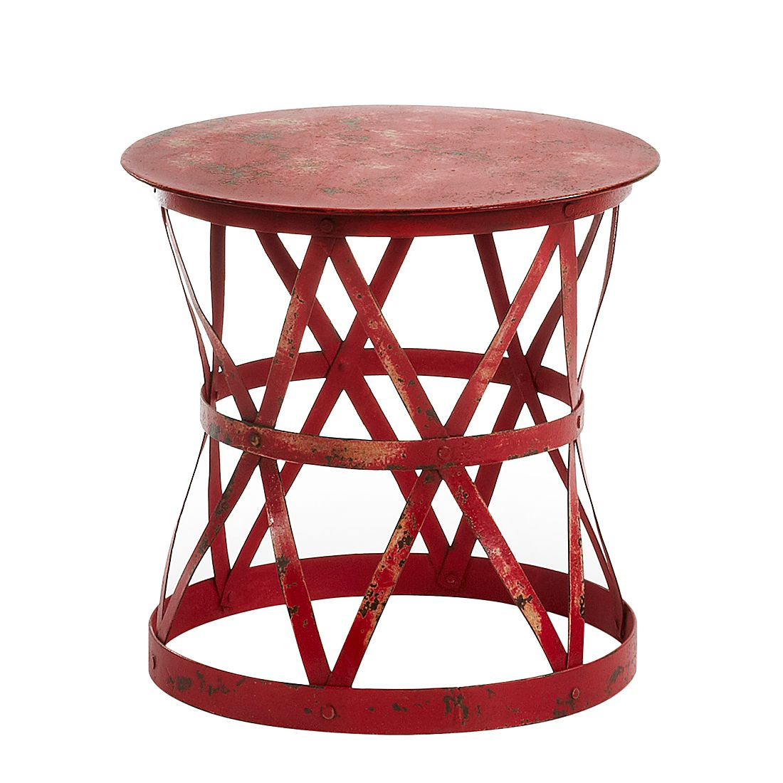 Table d'appoint Banchory - Rouge, ars manufacti
