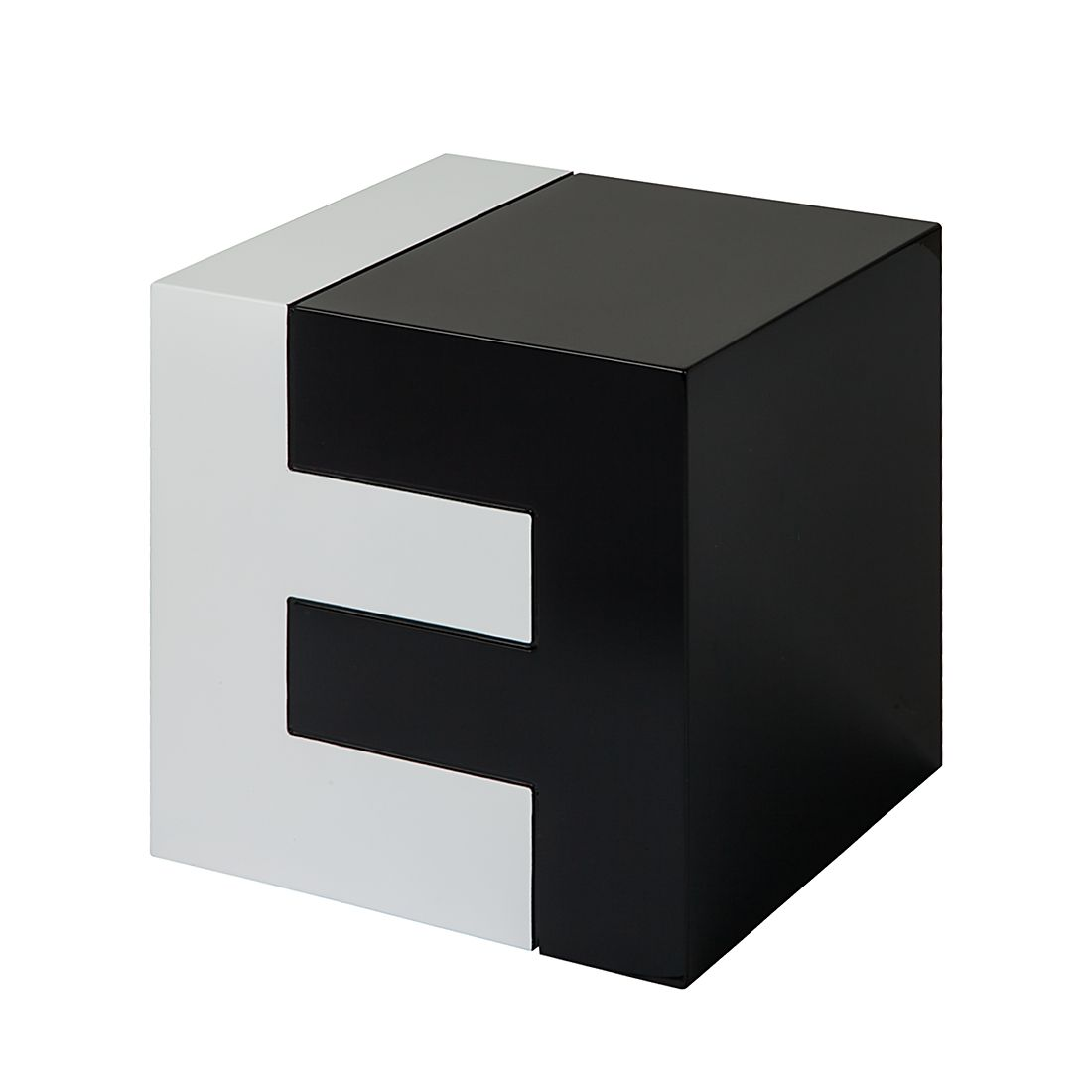 Tavolino Barcelona - Bianco/Nero Lucido, Fredriks