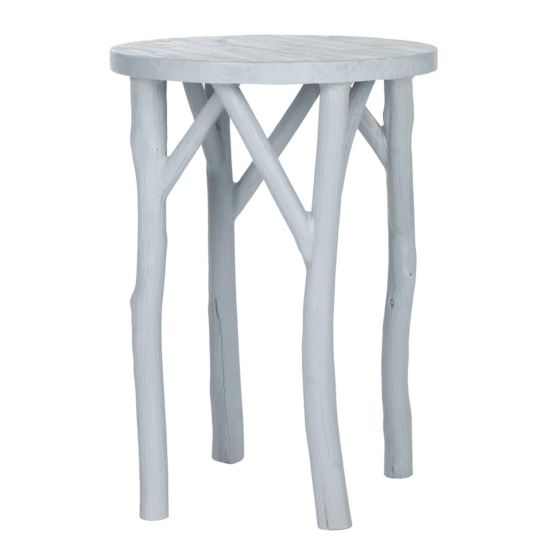 Table d'appoint Batati - Bayur massif - Bleu gris, Safavieh