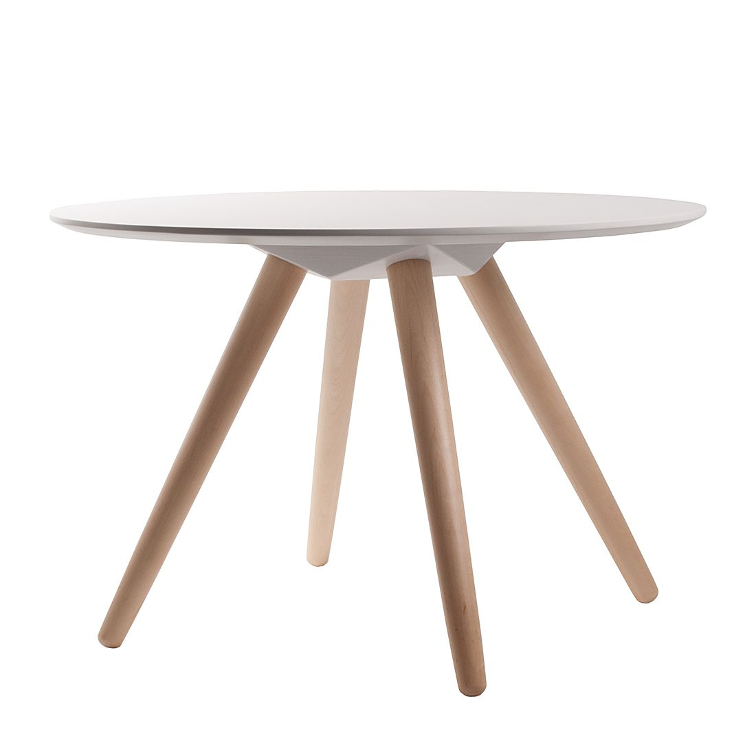 Table d'appoint Bee II - Blanc / Bouleau massif, Zuiver