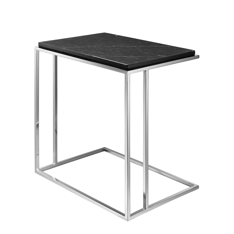 beistelltisch ben marmor edelstahl schwarz silber. Black Bedroom Furniture Sets. Home Design Ideas