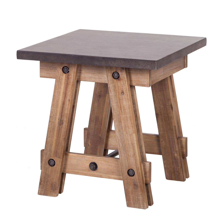 Tavolino Beton - legno massello di acacia, ars manufacti