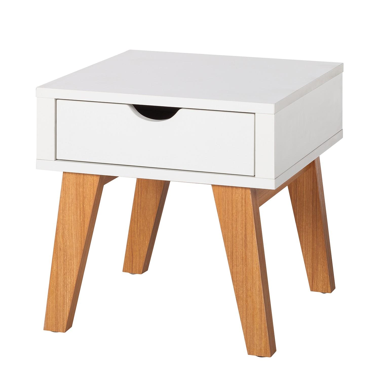 Tavolino Brekille - bianco / quercia, Morteens