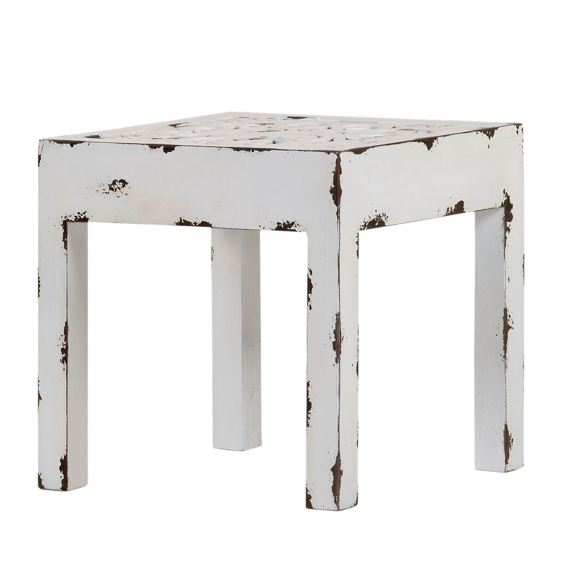 Table basse Chapalasee - Pin massif blanc - Teinté et verni, Red Living