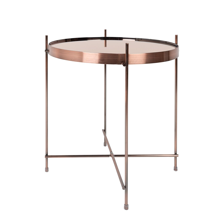 Tavolino Cupid - Ferro/Vetro Color rame, Zuiver
