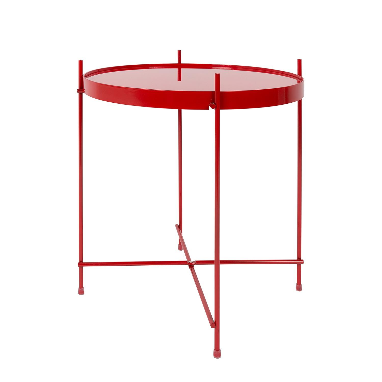 Tavolino Cupid - Ferro/Vetro Rosso, Zuiver